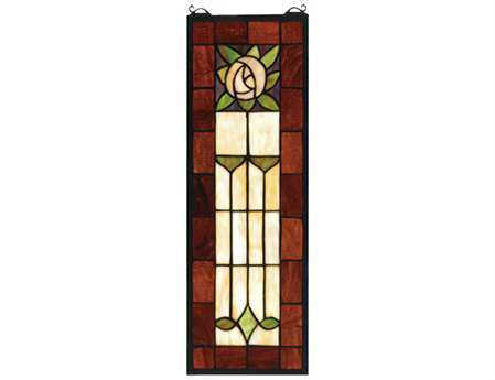 Meyda Tiffany Pasadena Rose Stained Glass Window