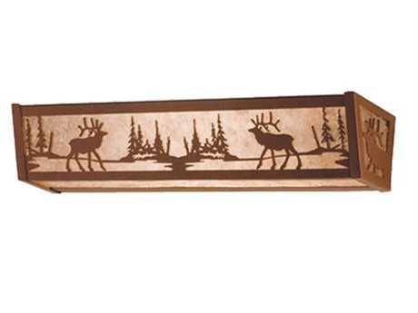 Meyda Tiffany Elk At Lake Four-Light Vanity Light