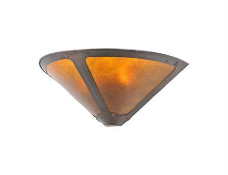 Meyda Tiffany Van Erp Amber Mica Two-Light Wall Sconce