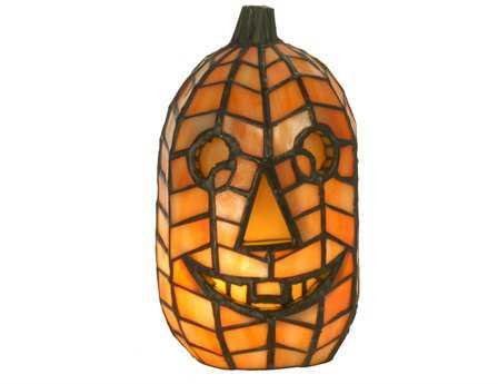 Meyda Tiffany Jack O'Lantern Brown Accent Table Lamp