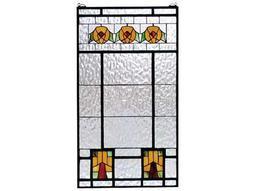 Meyda Tiffany Aurora Dogwood Stained Glass Window