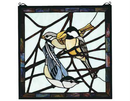 Meyda Tiffany Early Morning Visitors Stained Glass Window