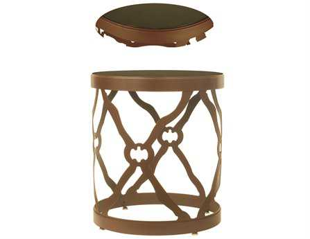 Meyda Tiffany 22 Round Metal & Stone Brown Table
