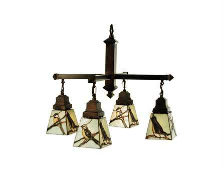 Meyda Tiffany Early Morning Visitors Four-Light 24 Wide Grand Chandelier