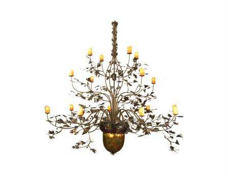 Meyda Tiffany Greenbriar Oak 16 Arm 3 Tier 19-Light 100 Wide Grand Chandelier
