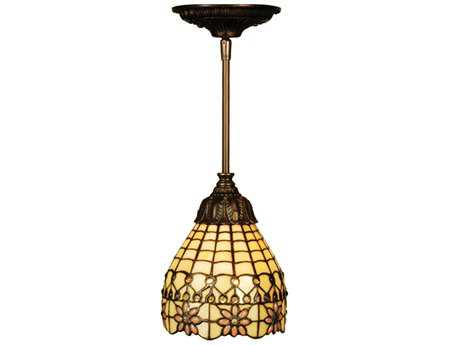 Meyda Tiffany Victorian Flourish 6'' Wide Mini Pendant Light