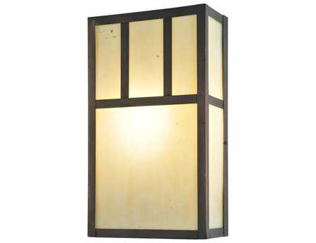 Meyda Tiffany Hyde Park Double Bar Mission Wall Sconce