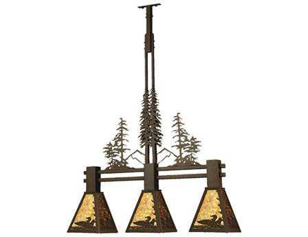 Meyda Tiffany Loon Tall Pines Three-Light Island Light