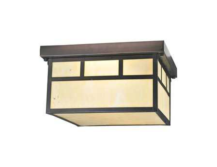 Meyda Tiffany Hyde Park Double Bar Mission Two-Light Flush Mount Light