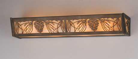 Meyda Tiffany Mountain Pine Four-Light Vanity Light