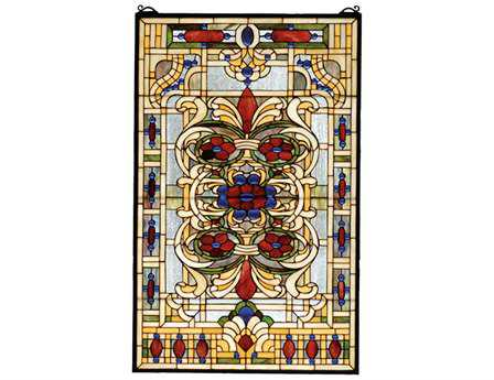 Meyda Tiffany Estate Floral Stained Glass Window