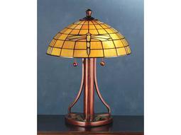 Meyda Tiffany Arts & Crafts Dragonfly Yellow Table Lamp
