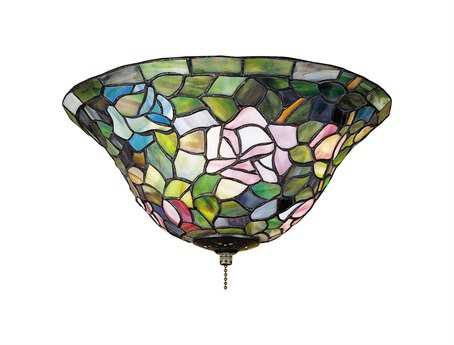 Meyda Tiffany Rosebush Three-Light Flush Mount Light