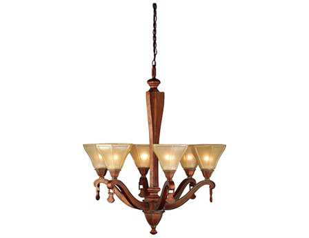 Meyda Tiffany Oakland & Six-Light 27 Wide Chandelier