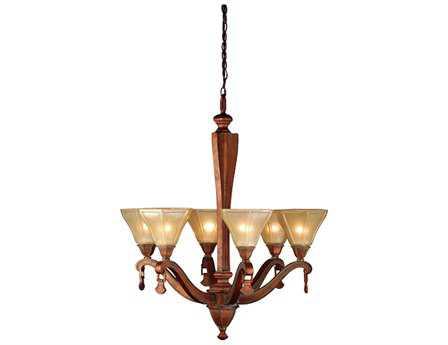 Meyda Tiffany Oakland & Six-Light 27 Wide Chandelier