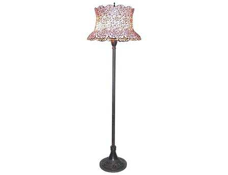 Meyda Tiffany Blooming Rose Multi-Color Floor Lamp