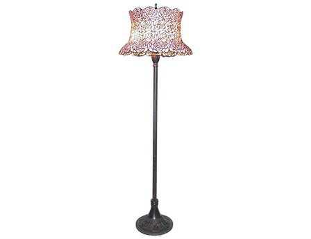 Meyda Tiffany Blooming Rose Multi-Color Floor Lamp