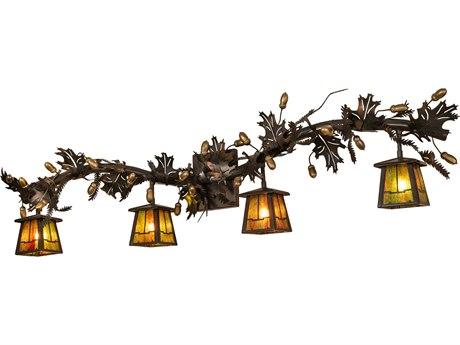 Meyda Tiffany Oak Leaf Valley View Four-Light Vanity Light