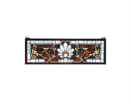 Meyda Tiffany Beveled Ellsinore Transom Stained Glass Window