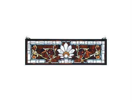 Meyda Tiffany Beveled Ellsinore Transom Stained Glass Window