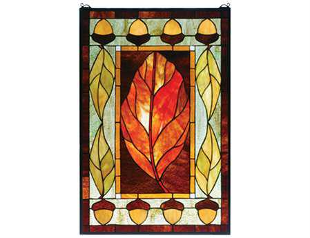 Meyda Tiffany Harvest Festival Stained Glass Window
