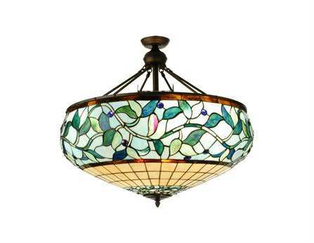 Meyda Tiffany Ivy Berry 13-Light Semi-Flush Mount Light
