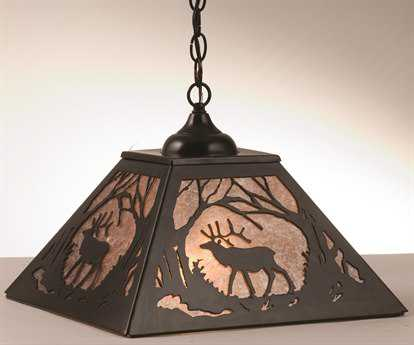 Meyda Tiffany Elk At Dawn Two-Light Pendant
