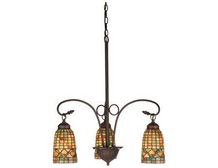 Meyda Tiffany Acorn Three-Light 20 Wide Grand Chandelier