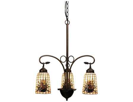 Meyda Tiffany Pine Barons Three-Light 20 Wide Grand Chandelier