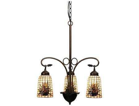 Meyda Tiffany Pine Barons Three-Light 20 Wide Grand Chandelier