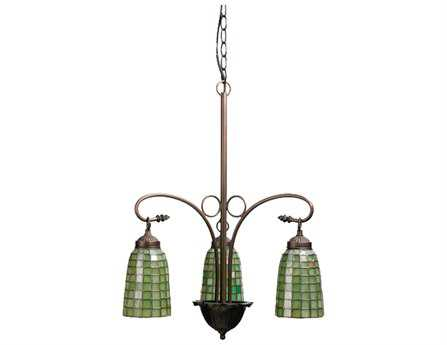 Meyda Tiffany Terra Verde Three-Light 20 Wide Chandelier