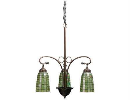 Meyda Tiffany Terra Verde Three-Light 20 Wide Chandelier