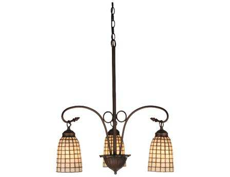 Meyda Tiffany Terra Bone Three-Light 20 Wide Grand Chandelier