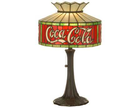 Meyda Tiffany Coca-Cola Multi-Color Accent Table Lamp