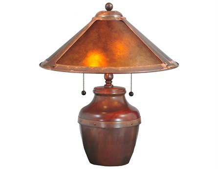 Meyda Tiffany Van Erp Amber Mica Multi-Color Table Lamp