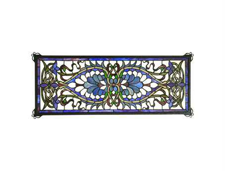 Meyda Tiffany Antoinette Transom Stained Glass Window