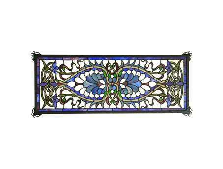 Meyda tiffany antoinette transom stained glass window