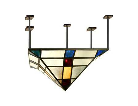 Meyda Tiffany Polaris Eight-Light Semi-Flush Mount Light
