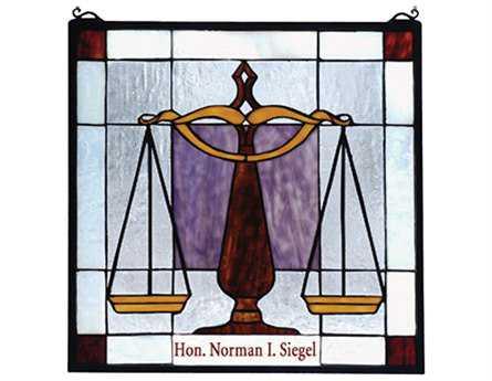 Meyda Tiffany Personalized Judicial Stained Glass Window