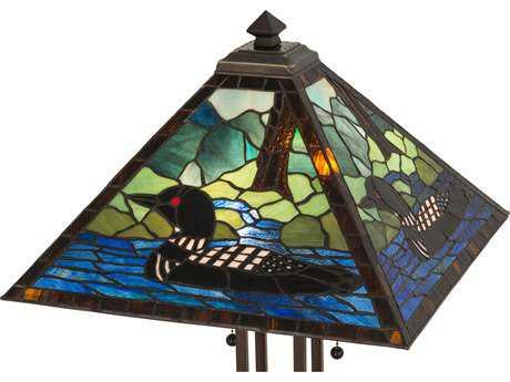 Meyda Lighting Loon Purple 30'' Table Lamp