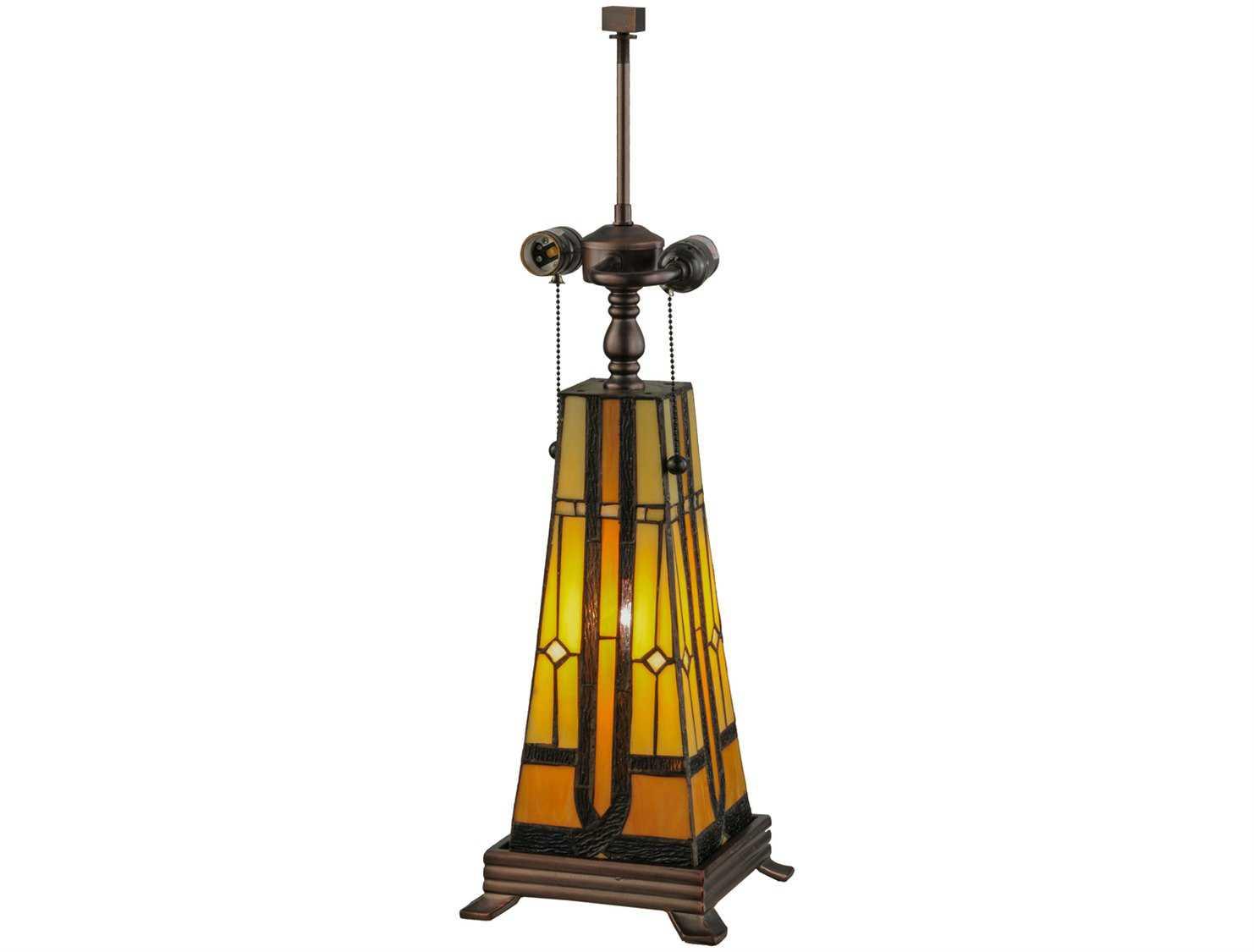 Meyda Tiffany Sierra Prairie Mission Lighted Table Lamp