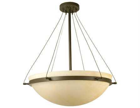 Meyda Tiffany Locus Three-Light Semi-Flush Mount Light