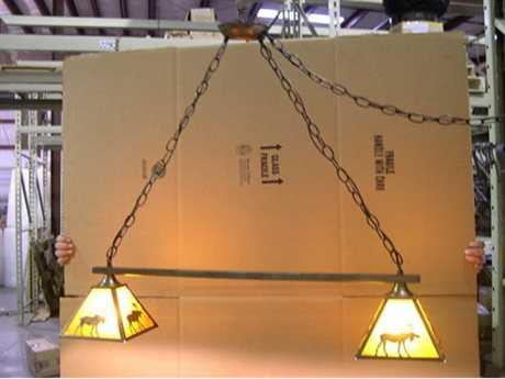 Meyda Tiffany Lone Moose Two-Light Island Light