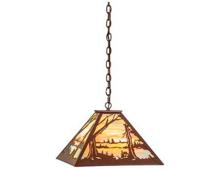 Meyda Tiffany Quiet Pond Three-Light Pendant