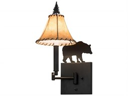 Meyda Tiffany Black Bear Swing Arm Wall Sconce
