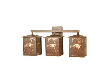 Meyda Tiffany Beaver At Work Three-Light Vanity Light