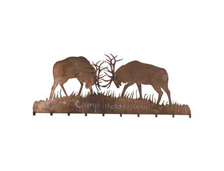 Meyda Tiffany Battling Bucks 10 Hooks Coat Rack
