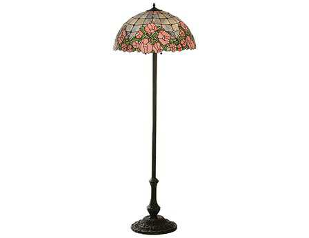 Meyda Tiffany Cabbage Rose Multi-Color Floor Lamp