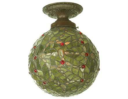 Meyda Tiffany Holly Ball Semi-Flush Mount Light