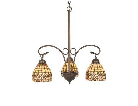 Meyda Tiffany Victorian Flourish Three-Light 21 Wide Grand Chandelier